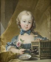 弗朗索瓦·布歇 - 绘画 - Portrait de la fille de la Marquise de Pompadour