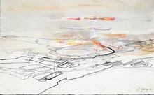 Georges CLAUDE - Dibujo Acuarela - Composition abstraite