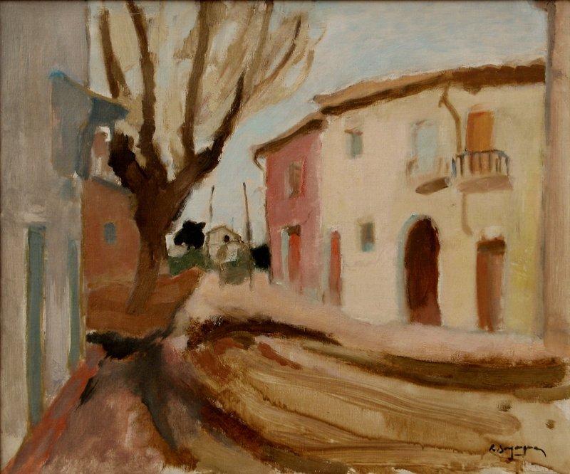 """Raoul BERGOUGNAN - Pintura - """"LA MAISON ROSE"""""""