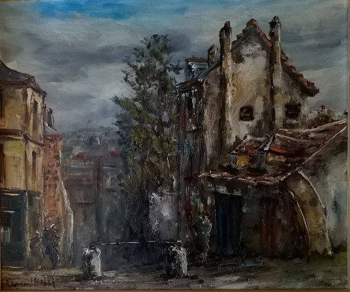 Raymond BESSE - Gemälde - Montmartre