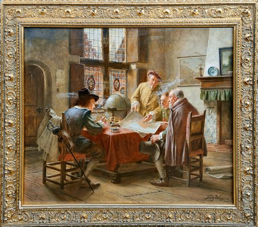 Fritz WAGENER - Pintura - Plotting Their Adventure