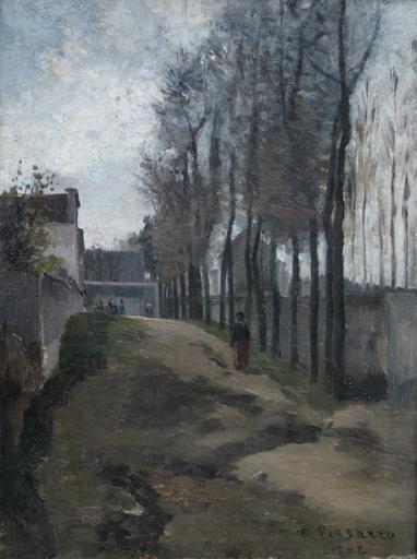 Camille PISSARRO - Pintura - Le Chemin, Paysage Hivernal