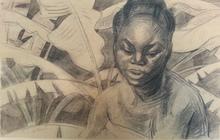 Émile Marie BEAUME - Dessin-Aquarelle - La Congolaise