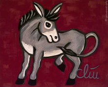 Jacqueline DITT - Peinture - Der eigenwillige Esel (The willful Donkey)