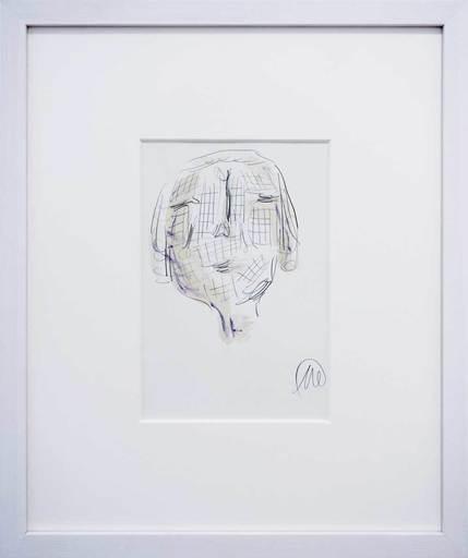 Markus LÜPERTZ - Dibujo Acuarela - Parsifal-Kopf