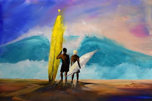 Rémi BERTOCHE - Painting - Endless Summer