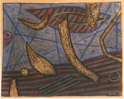 Henri GOETZ - Dessin-Aquarelle - Composition