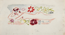 Kees VAN DONGEN - Drawing-Watercolor - Baigneuse