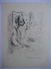 André Albert Marie DUNOYER DE SEGONZAC - Grabado - GRAVURE SIGNÉE ENCRE NUM/33 HANDSIGNED ETCHING CLOWN