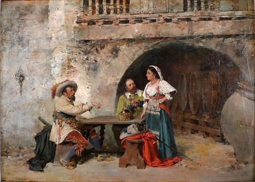 José BENLLIURE Y GIL - Gemälde - At the Inn