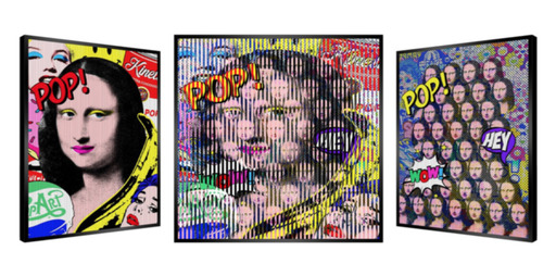 Patrick RUBINSTEIN - Painting - Pop Mona