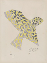 Georges BRAQUE - Estampe-Multiple - Lettera Amorosa : Le rapace