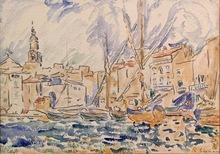 Paul SIGNAC - Drawing-Watercolor - St. Tropez