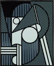 罗伊•利希滕斯坦 - 版画 - Modern Head #4