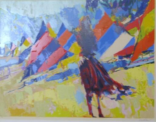 Nicola SIMBARI - Grabado - Girl With Sailboats