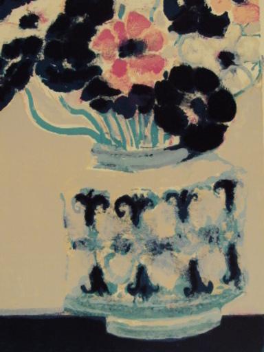 André BRASILIER - Grabado - Bouquet d'Anémones,1965.