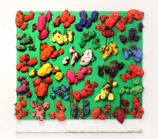 Biagio PANCINO - Sculpture-Volume - Polychromie de pommes de terre - vert impérial fluo