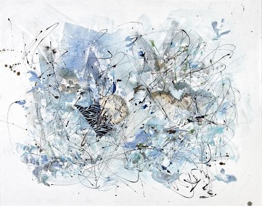 Simone MONNEY - Painting - Lagon bleu