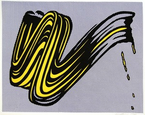 Roy LICHTENSTEIN, Brushstroke