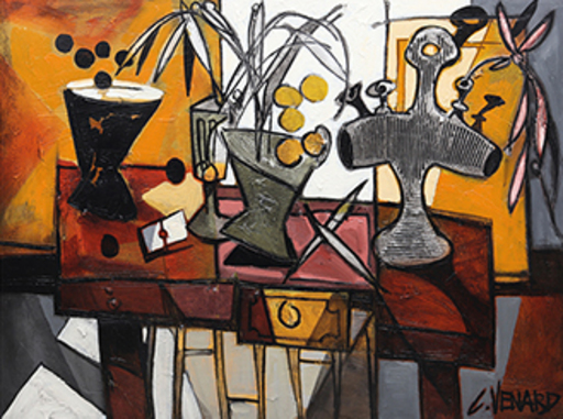 Claude VENARD - Pittura - La table