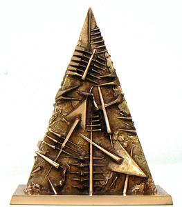 Arnaldo POMODORO - Skulptur Volumen - Triangolo