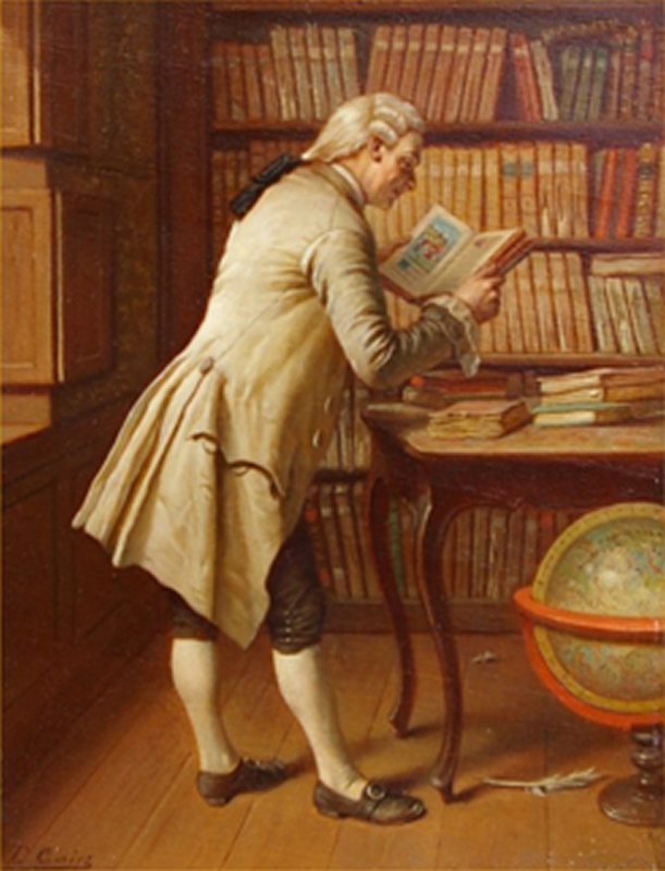 Theodore CERIEZ - Painting - The Librarian
