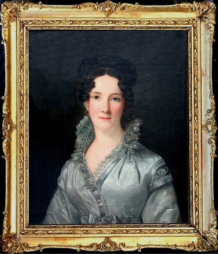 Friedrich Carl GRÖGER - Painting - Anne O'Neill St.Croix, married Peter Lotharius Oxholm