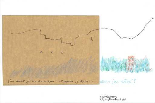 """Reine BUD-PRINTEMS - Zeichnung Aquarell - """"Alors, j'ai rêvé !"""""""