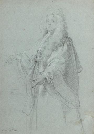 François DE TROY - Drawing-Watercolor - Portrait d'un magistrat