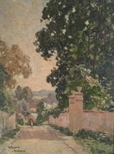 Gustave LOISEAU - Painting - Paysage à Pontoise