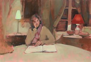 Antoine VINCENT - Pintura - L'heure de comptes
