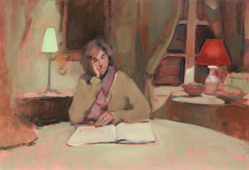 Antoine VINCENT - Gemälde - L'heure de comptes