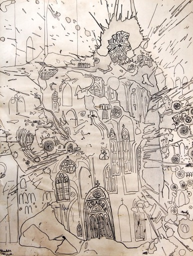 John ARMLEDER - Zeichnung Aquarell - Étude