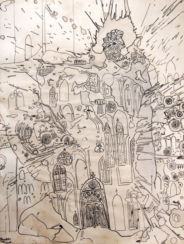 John ARMLEDER - Drawing-Watercolor - Étude
