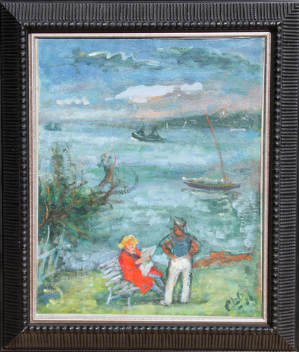 Robert PHILIPP - 绘画 - Sailor and Reading Woman