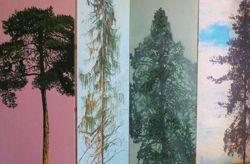 Juliette LAMARCA - Pittura - « Quatre arbres »