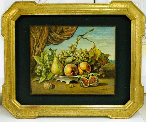 Giorgio DE CHIRICO - Pittura - Natura morta con drappo