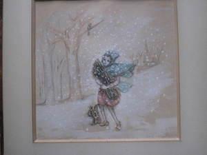 Jeune Fille Dans La Neige By Irène Lagut Buy Art Online