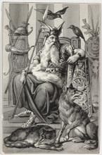 Karl ANGERER - Disegno Acquarello - King Wotan, ca 1920
