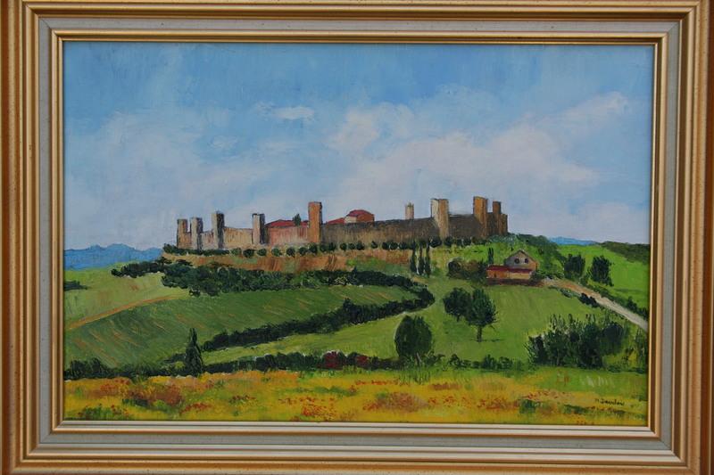Monique DEVALOIS - Peinture - Village de Monteriggioni
