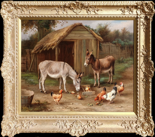 Edgar HUNT - Pittura - Farmyard Friends