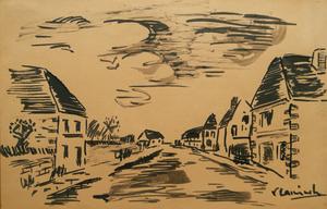 Maurice DE VLAMINCK, Houses in a Street