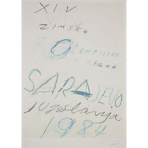 Cy TWOMBLY - Estampe-Multiple - Untitled from the Art and Sports portfolio