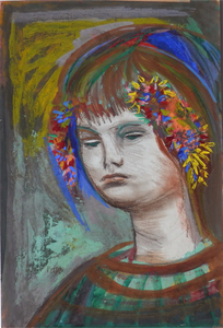 Josef PRESSER, Girl with Flowers