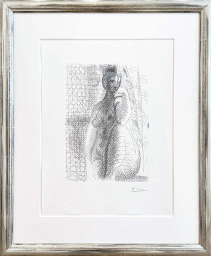 Pablo PICASSO - Stampa-Multiplo - Sitzender Akt mit angewinkeltem Bein (Femme nue à la jambe p