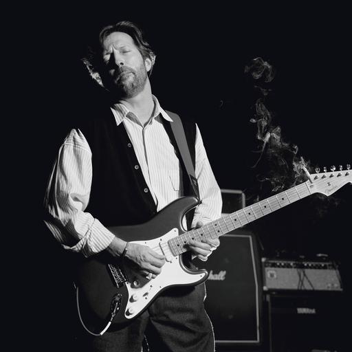 Terry O'NEILL - Druckgrafik-Multiple - Eric Clapton, B&W