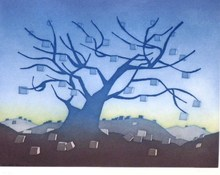 Jean-Michel FOLON - Grabado - Money Tree