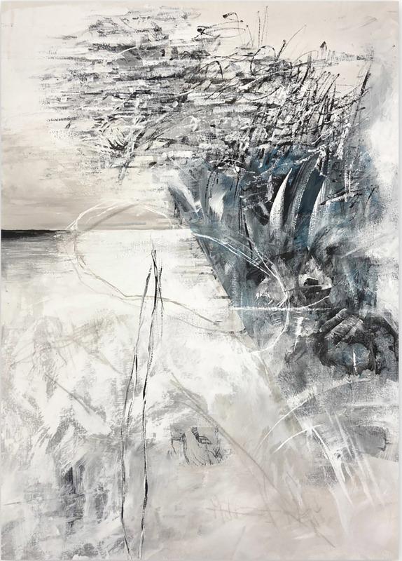 Jutta Rika BRESSEM - Painting - Letters to an unknown friend II