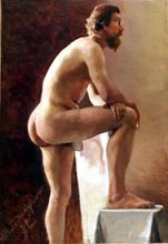 Ivan Alekseevic VLADIMIROV - Pintura - Nudo maschile