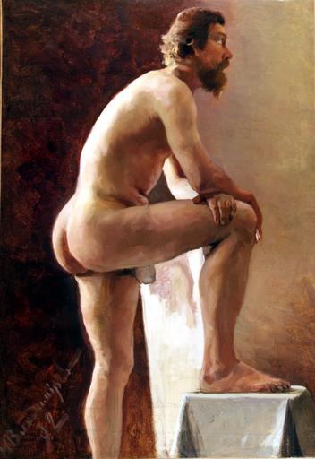Ivan Alekseevic VLADIMIROV - Painting - Nudo maschile